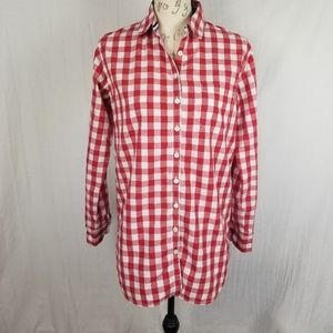 Tommy Hilfiger Red Gingham Button Down Shirt